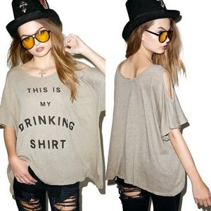 Wildfox This is My Drinking Shirt | Size Med